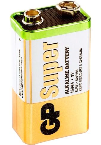 GP Batteries Batterie »Super Alkaline 9V«, 9 V, (1 St.) kaufen