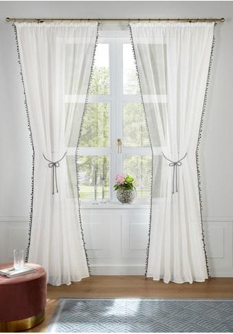 Guido Maria Kretschmer Home&Living Gardine »Mira«, transparent, mit Raffkordel und... kaufen