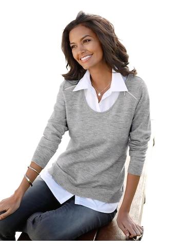 Casual Looks  Pullover mit silberfarbenem Zipper kaufen
