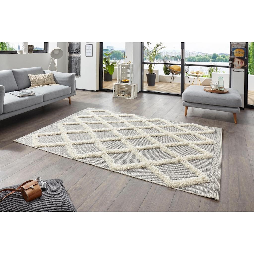 MINT RUGS Teppich »Ayoun«, rechteckig, 35 mm Höhe, In- und Outdoor geeignet, Hoch-Tief-Struktur, Wohnzimmer