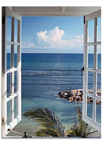 Artland Glasbild »Fenster zum Paradies«, Fensterblick, (1 St.) kaufen
