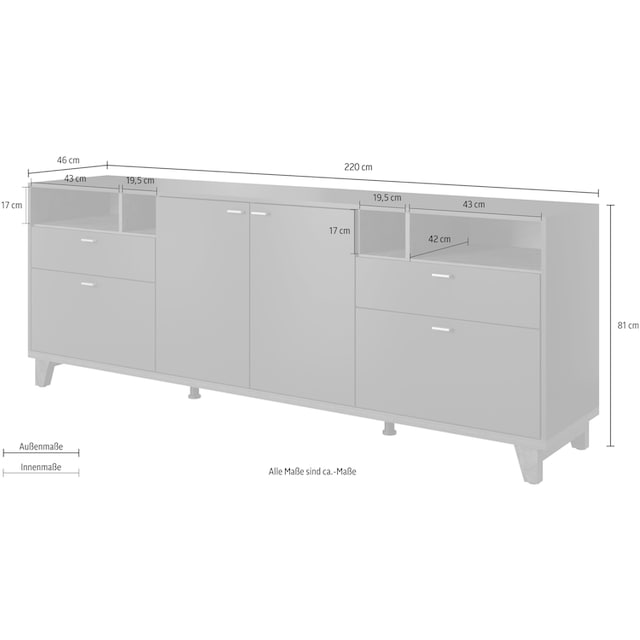 TRENDMANUFAKTUR Sideboard »Move«