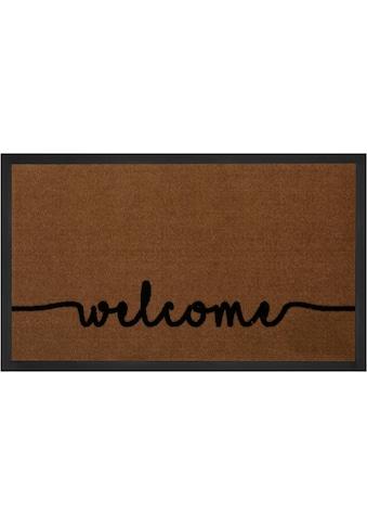 HANSE Home Fussmatte »Cozy Welcome«, rechteckig, 5 mm Höhe, Fussabstreifer, Fussabtreter, Schmutzfangläufer, Schmutzfangmatte, Schmutzfangteppich, Schmutzmatte, Türmatte, Türvorleger, mit Spruch, In- und Outdoor geeignet, waschbar kaufen