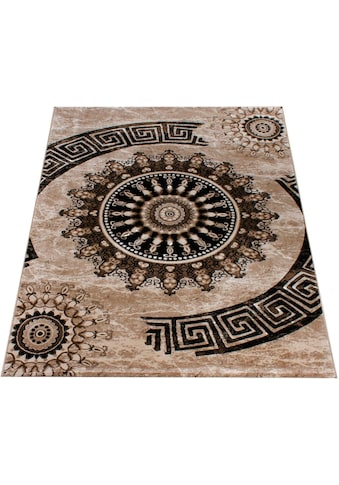 Paco Home Teppich »Tibesti 447«, rechteckig, 16 mm Höhe, Kurzflor, Ornamente in dezenten Farbtöne, Wohnzimmer, Kundenliebling mit 5 Sterne-Bewertung! kaufen