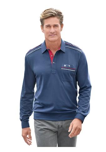 Hajo Langarm - Poloshirt in modischem Dessin kaufen