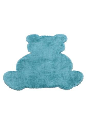 Lüttenhütt Kinderteppich »Teddy«, Motivform, 25 mm Höhe, Kaninchenfell-Haptik, Motiv Teddy kaufen