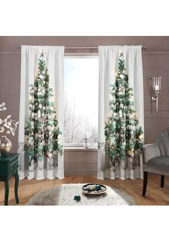 Vorhang, »LED - Tannenbaum«, my home, Stangendurchzug 1 Stück acheter