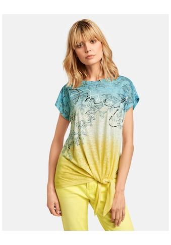 Taifun T - Shirt Kurzarm Rundhals »T - Shirt mit Knoten - Detail« kaufen