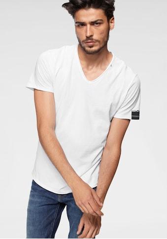 Replay T-Shirt, offenen Kanten kaufen
