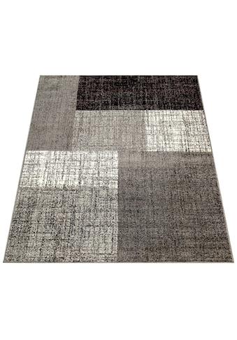 Paco Home Teppich »Mondial 105«, rechteckig, 14 mm Höhe, Kurzflor im Karo Design,... kaufen