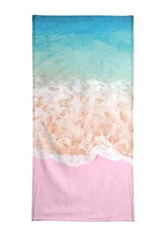 Juniqe Handtuch »Pink Sand«, (1 St.), Weiche Frottee-Veloursqualität kaufen