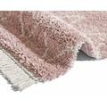 MINT RUGS Hochflor-Teppich »Ruby«, rechteckig, 35 mm Höhe, pastell Farben mit Fransen, Wohnzimmer
