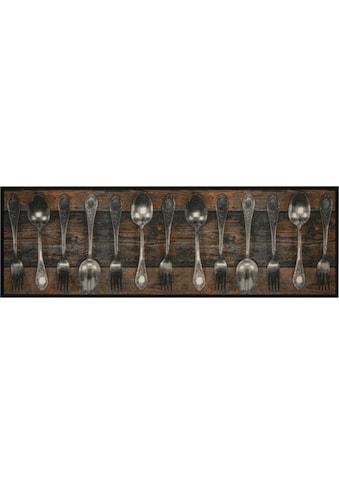 Zala Living Küchenläufer »Fork & Spoon«, rechteckig, 5 mm Höhe, In- und Outdoor geeignet, waschbar kaufen
