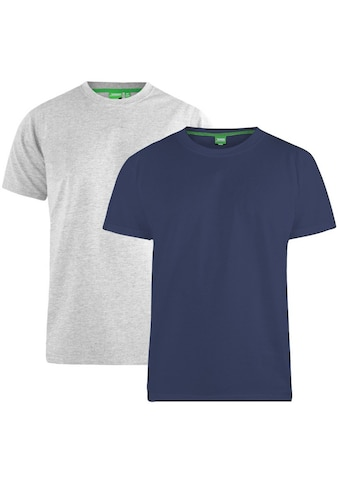 Duke Clothing T - Shirt »Herren Fenton D555, Kingsize, Rundhalsausschnitt, 2er - Packung« kaufen