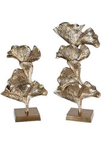 GILDE Dekoobjekt »Skulptur Ginkgo, goldfarben«, aus Metall, in 2 Grössen erhältlich,... kaufen