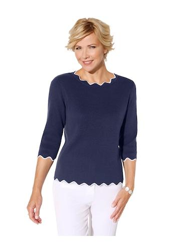 Classic Pullover in formstabiler Milano - Rippe kaufen