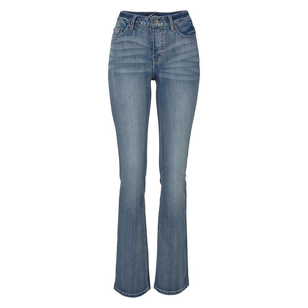 Arizona Bootcut-Jeans »Baby Bootcut«, High Waist