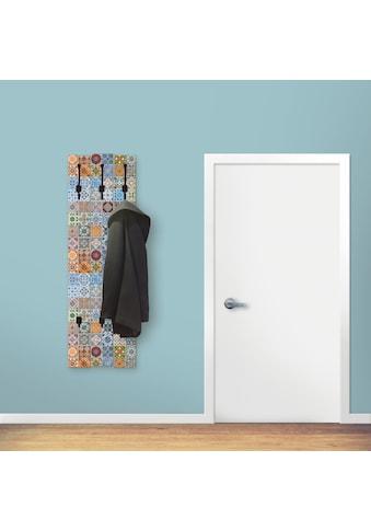 Artland Garderobenpaneel »Gemusterte Keramikfliesen«, platzsparende Wandgarderobe aus... kaufen