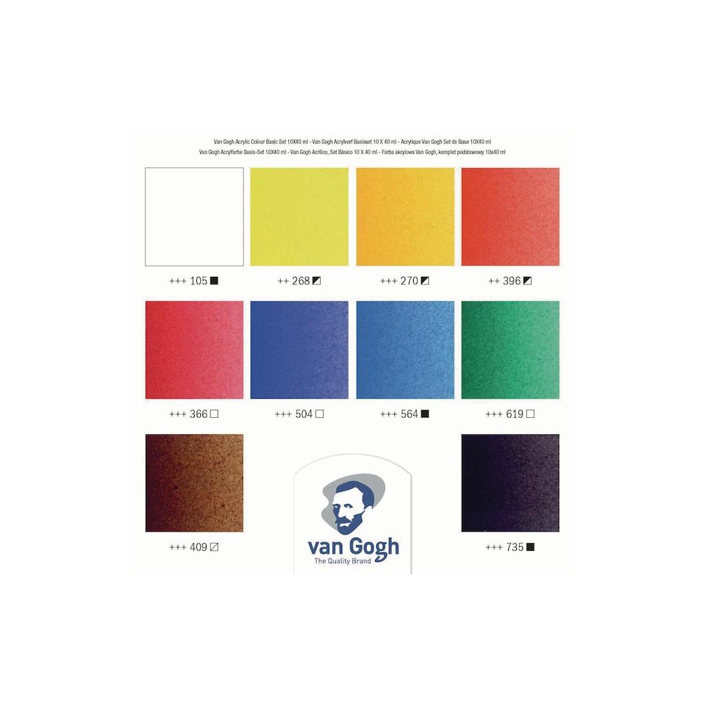 Acrylfarbe »Basic-Set, 40 ml, Mehrfarbig«