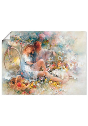 Artland Wandbild »Reise im Frühjahr«, Paar, (1 St.), in vielen Grössen & Produktarten -Leinwandbild, Poster, Wandaufkleber / Wandtattoo auch für Badezimmer geeignet kaufen