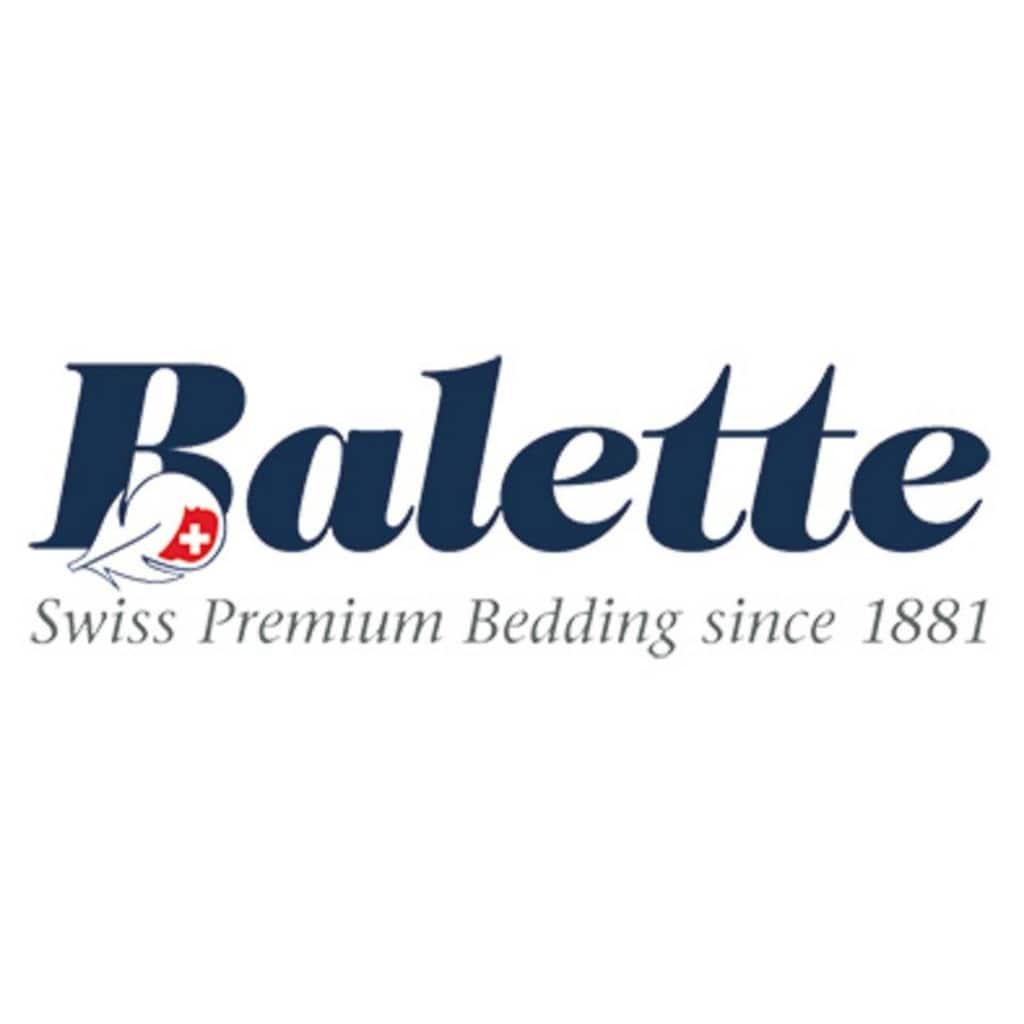 Balette Kopfkissen »Kopfkissen/Pfulmen Balette, »Weiss & Edel««, Füllung: neue reine Entenfederchen, weiss, Bezug: 100% Baumwolle, (1 St.), Mit Edelweiss-Strickerei