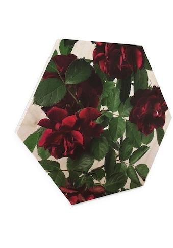Wall-Art Holzbild »Blumen Holzbild Hexagon Rosen«, (1 St.) kaufen