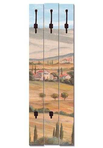 Artland Garderobenpaneel »Toskanisches Tal I«, platzsparende Wandgarderobe aus Holz... kaufen