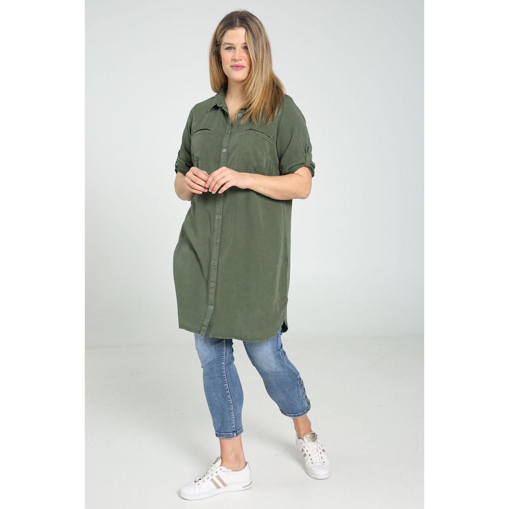 Paprika Shirtkleid »Rundhals geblümt«, bequem zu tragen