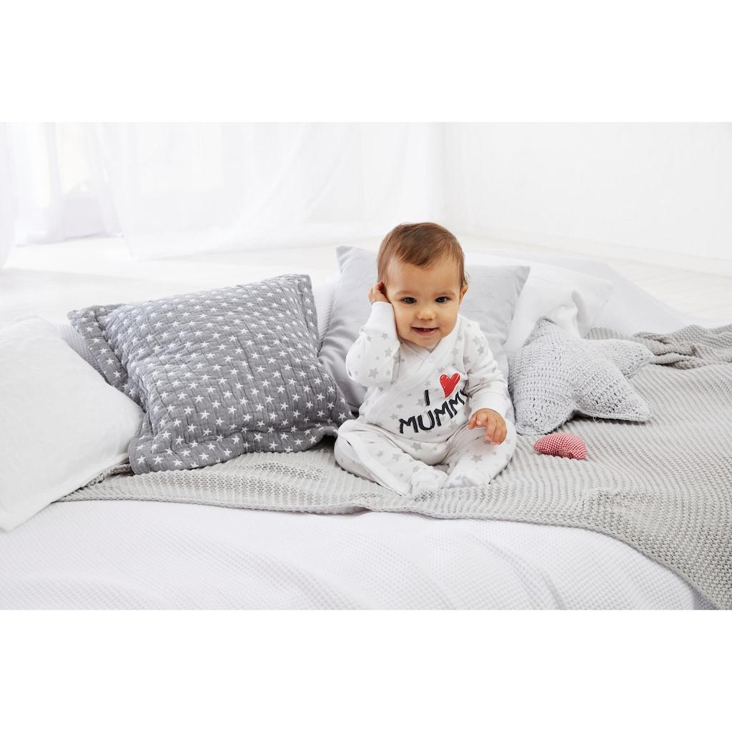 Klitzeklein Schlafanzug »I love Mummy / I love Daddy, Druck«, aus Bio-Baumwolle