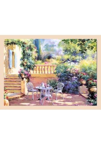 Home affaire Wandbild »Romantische Terrasse«, mit Rahmen kaufen