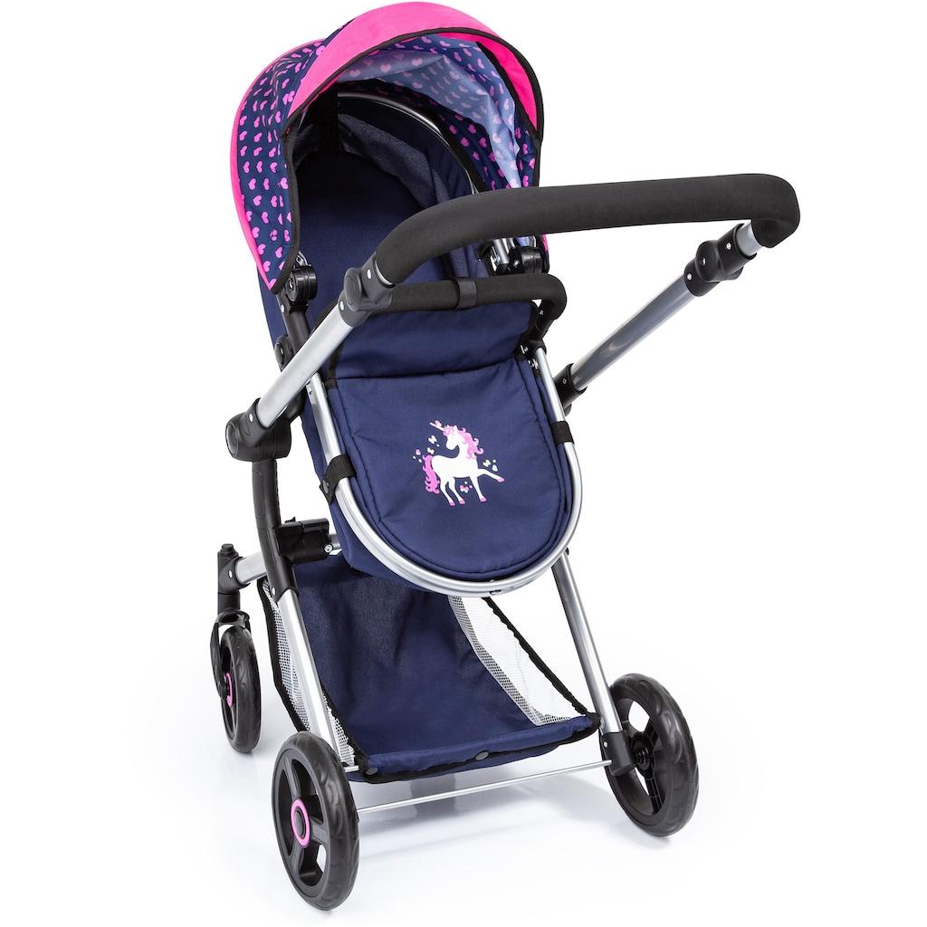 Bayer Kombi-Puppenwagen »Vario, Blau/Pink«, inkl. Wickeltasche