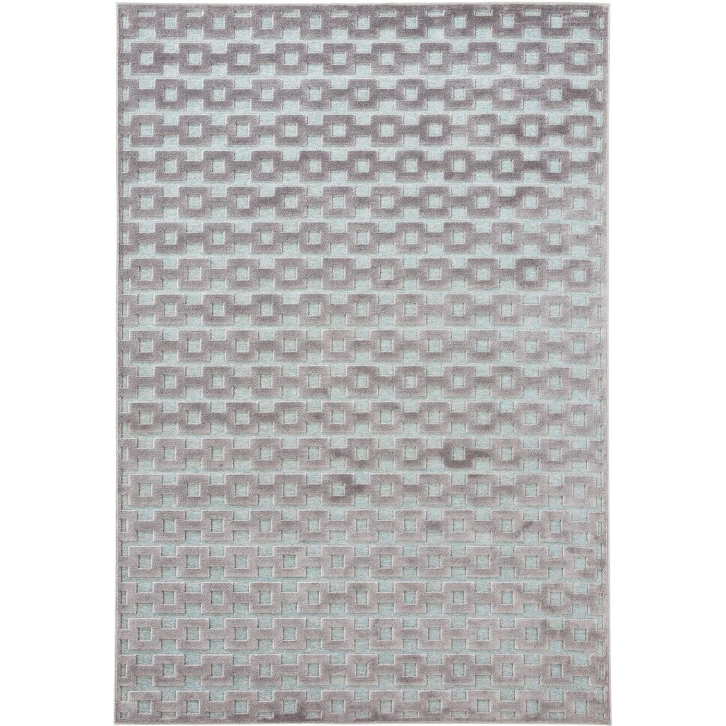 MINT RUGS Teppich »Bouton«, rechteckig, 4 mm Höhe, Hoch-Tief-Effekt, Wohnzimmer