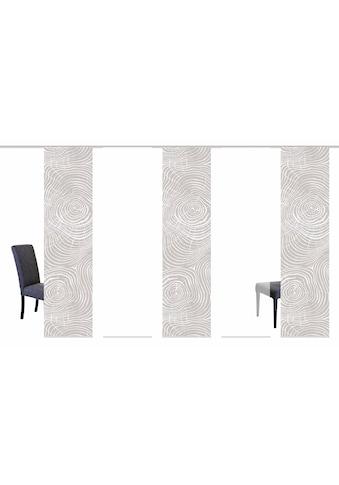 Schiebegardine, »MADERAS«, HOME WOHNIDEEN, Klettband 5 Stück kaufen
