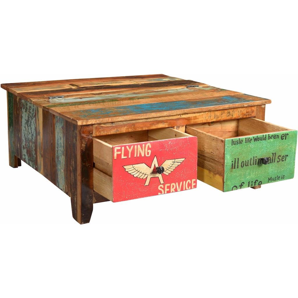 SIT Couchtisch »Speedway«, mit 4 Schubladen, Shabby Chic, Vintage