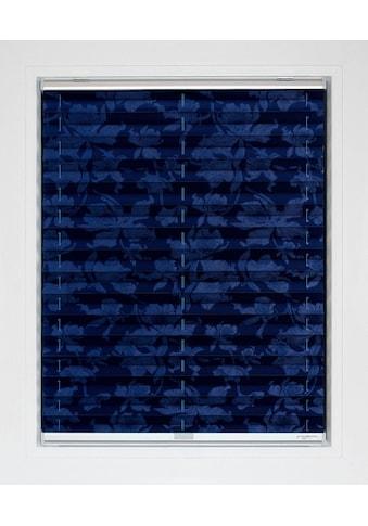 sunlines Plissee nach Mass »Blue Line«, Lichtschutz, energiesparend, mit Bohren, verspannt, Blüten-Muster kaufen