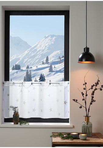 Scheibengardine, »Stern«, my home, Ösen 1 Stück kaufen