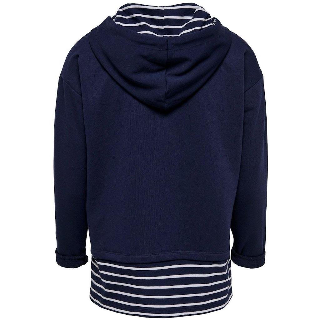 Only Sweatshirt »ONLFMARINA«, 2 in 1 Optik