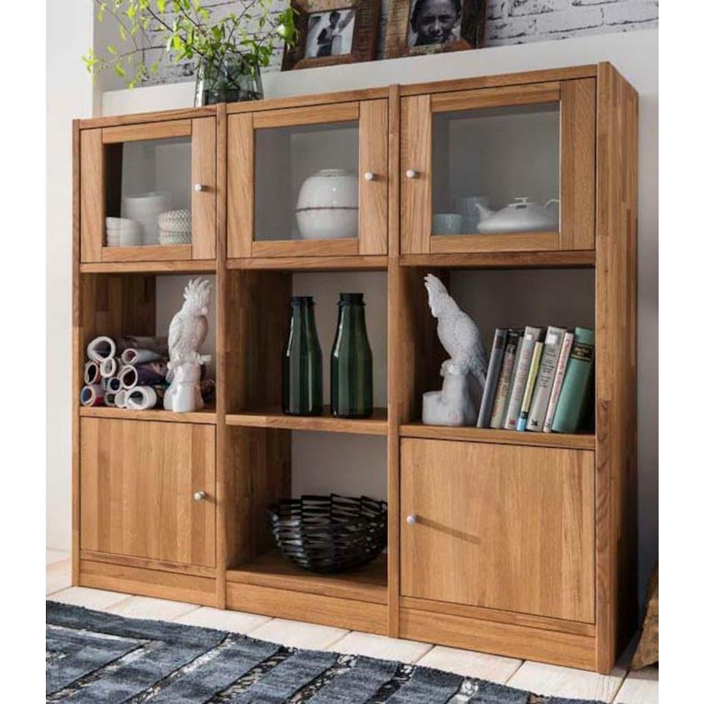 Premium collection by Home affaire Regalelement »Ecko«, aus schönem massivem Wildeichenholz, Breite 136 cm