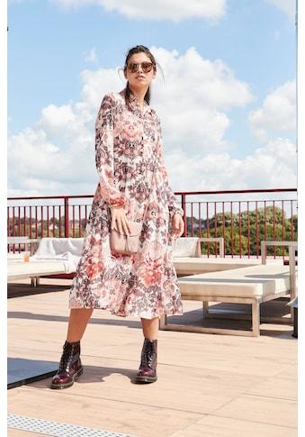 s.Oliver Blusenkleid, mit Volants und mit tollem Paisley-Alloverprint kaufen