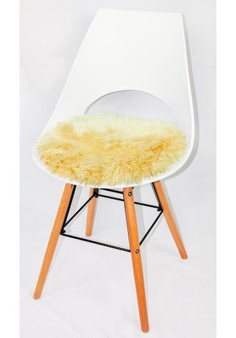 Heitmann Felle Stuhlkissen »Lamm, rund«, Sitzauflage, rund, Ø 45 cm, echtes Lammfell, waschbar kaufen