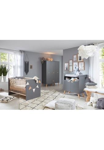 Babyzimmer-Komplettset »Toronto«, (Set, 3 tlg.), Bett, Wickelkommode und Schrank 3 türig kaufen