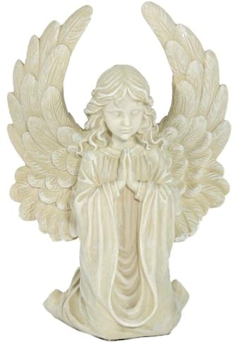 Casa Collection by Jänig Engelfigur »Engel mit grossen Flügeln, klein, kniend, betend,... kaufen