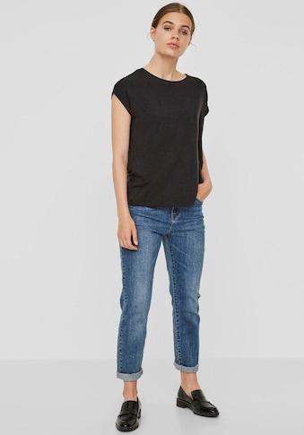 Vero Moda Rundhalsshirt »VMAVA PLAIN« kaufen