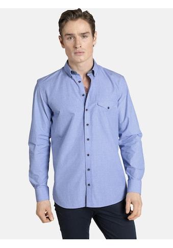 SHIRTMASTER Langarmhemd »lightbluedeluxe«, mit Knöpfen in Zebramuster kaufen