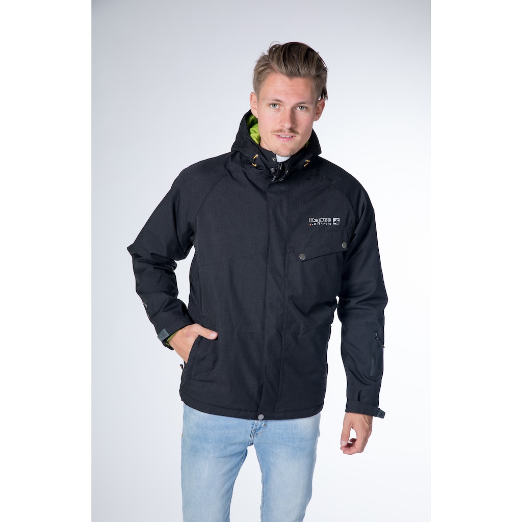 DEPROC Active Winterjacke »ALASKA MEN«, in edler Jacquardoptik