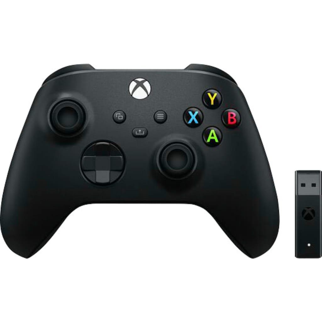 Xbox Wireless-Controller »Carbon Black«, inkl. Wireless Adapter für Windows 10