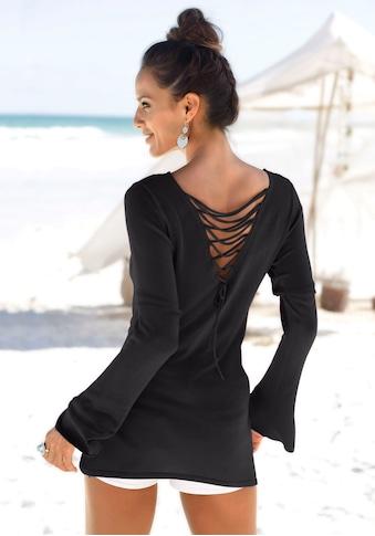 LASCANA Rundhalspullover, mit tollem Rückendetail kaufen