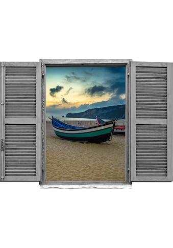 queence Wandtattoo »Boote am Strand« kaufen