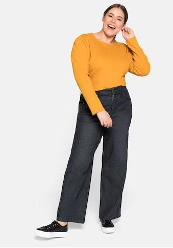 Sheego Stretch-Jeans, High waisted mit weiten Beinen kaufen