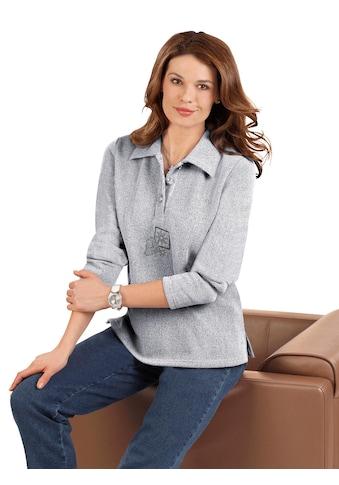 Classic Basics Shirt aus kuscheligem Melange - Garn kaufen